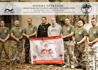 2014-10-04 Andrej és az instruktorok